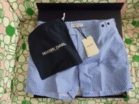 Brand new Frescobol Carioca paraty tailored blue swimming shorts / trunks - RRP £160