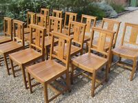 SOLID OAK CHAPEL CHAIRS. 30+ available. DELIVERY POSS. CHURCH PEWS FOR SALE.