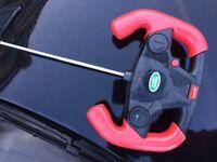 Electric black rang rover car