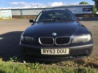 BMW 320d facelift touring, 6 speed manual, leather, spares or repair