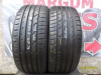 AC108. 2X 225/50/16 92V 2X6MM MO CONTINENTAL PREMIUM CONTACT2 - USED TYRES