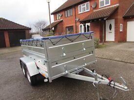 Car Double Broadside box trailer Camping trailer Twin axle 750kg