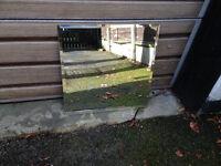 Square mirror tile - fix with adhesive - 21.5'' square - good condition - Didsbury area