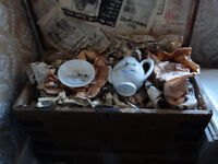 Fine China Tea Set Including Wooden Storage Chest