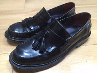 Delicious Junction Rude Boy Mens leather loafer black patent shoes size 8 (42)