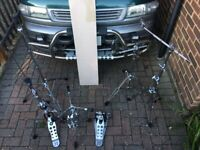 Drum Hardware Set - Pedal, Hi-hat, 2 x boom + 1 straight stand, snare stand