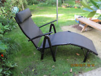 Two Gravity Sunloungers - As New! - Folding Recliners