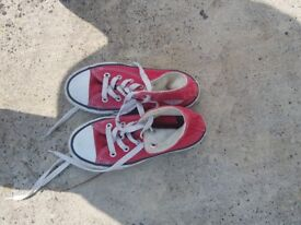 Red converse boots - size 11.5