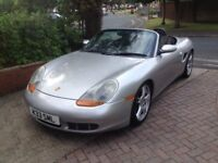 Porsch Boxster S 3.2 Classic Car.Silver with Black leather interior.MOT till July 2018.