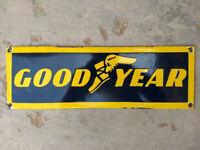 goodyear tyres/garage original large enamel sign see 3 images