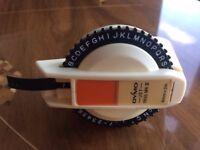 Vintage 80s Dymo Jet 1855 MKII Label Maker Tape Embossing Machine Cream Orange