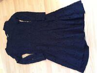 Navy lace dress - size 10