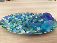 Large collection of decorative, coloured, glass stones / pebbles - only£1!