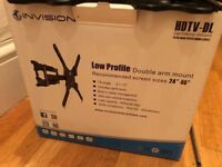 ALMOST NEW INVISION QUALITY HEAVY DUTY TV WALL MOUNT, SWIVELLING, TILTING, EXTENDABLE.CAN DELIVER
