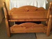 Solid wooden double bed