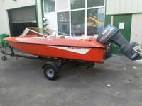 Fletcher speedboat with 55hp yamaha outboard motor