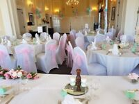 Chair covers 70p Hire, white or black