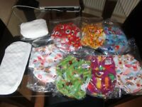 BRAND NEW WONDEROO NAPPY WITH 2 INSERTS. 7 AVAILABLE.