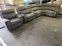 NEW EX DISPLAY LazyBoy BROOKLYN ELECTRIC RECLINER CORNER SOFA + ELECTRIC RECLINER CHAIR G 70%Off RRP