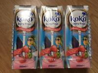 Koko Dairy Free Strawberry Calcium Long Life Coconut Milk 250 ml(Pack of 3)
