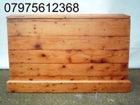 (368) BESPOKE EXTRA LARGE PINE TRUNK, REAL WOOD CHEST, BLANKET/STORAGE/TOY BOX