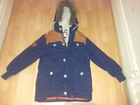 boys designer bellfield warm winter coat 9/10