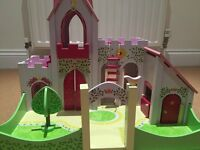Girls ELC Wooden Princess / Fairy Castle