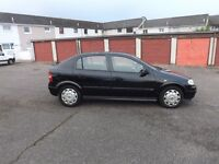 VAUXHALL ASTRA 1.6 , 5 DOOR, BLACK , NOW WITH 1 YEARS MOT , FULL VAUXHALL SERVICE HISTORY, £625 ONO