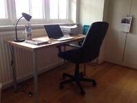 simple ikea table, new