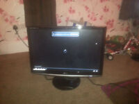 """for sale lg 22"""" lcd widescreen computer monitor £20"""