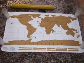 Brand new in cardboard tube - Map of the world. Good reference. Bought for course but never us