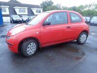 2005 55 reg Nissan micra 1.2 e 3 door mot 1 year good we driver £795