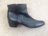 Black leather boots, size 5 (38), Jones the Bootmaker, barely worn