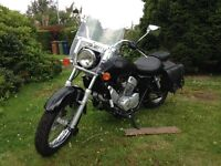2006 Black HONDA VT 125 Motorcycle. Very low mileage! Many extras! Learner legal!