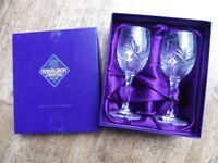 BNIB Edinburgh Crystal duet cut glass wineglasses