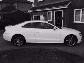 "Audi A5 2.0tdi Sline Coupe. 2010 model, ibis white, full leather, manual, 19"" Alloys"