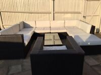 Oakita all weather large modular sofa, chair and table - selling reluctantly due to moving abroad