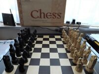 REDUCED _ Very RARE Studio Anne Carlton Hand Carved Chess set - History of Golf
