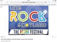 1 ticket - Lets Rock Scotland 23 June 2018
