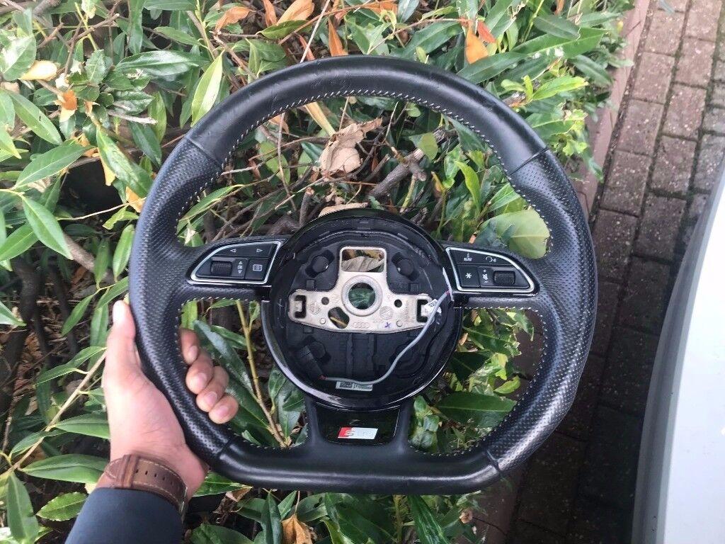 AUDI SLine Flat Bottom Steering Wheel A3 A4 S3 S4 TT TTRS TTS