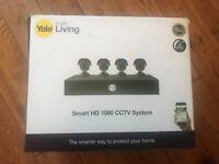 YALE CCTV KIT CAMERAS HD1080P 4 CAM 8 CH 2TB