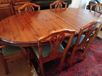 Ducal (Hampshire) - Oval Extendable Dining Table with 4 Chairs And 2 Carvers
