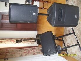 Full, Professionally set up boxed and ready to use sound sys for solo guitarists/duo music artistes