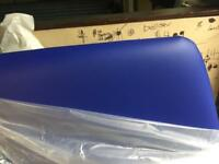 New Small Double 4ft Headboard in blue Leather