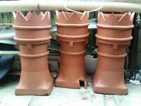 chimney pot planters terracotta