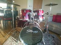 Stagg Full Drum Kit + Stool + 2 pair of drum sticks + A Key In Good condition - £148 ono