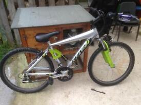 Full suspension mountain bike 24 inch wheels