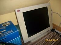 Flat Screen Computer Monitor - white