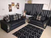BRAND NEW CHELSEA SOFA SET (3+2) OR CORNER SOFA **1 Year Warranty**