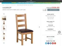 Solid Oak chairs, set of 6